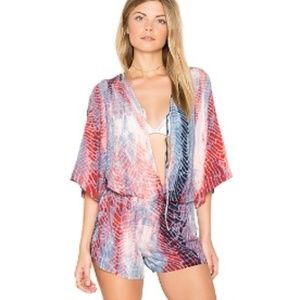 Maaji tie dye romper or swim cover up